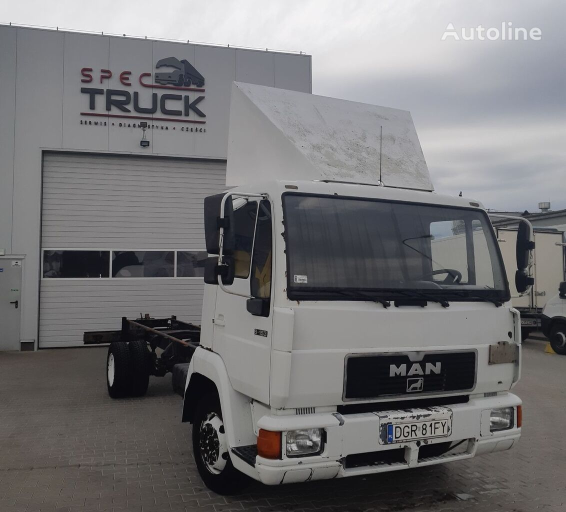 MAN L-2000, 8.153, full Stell, 7 meters  chassis truck