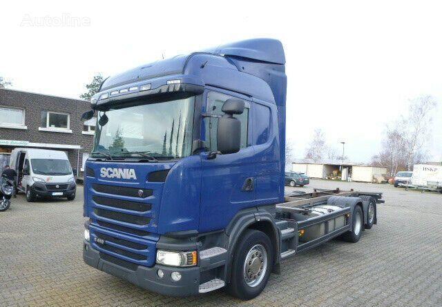 SCANIA G410 BDF 6x2 oś skrętna przód na poduszce 2014 NOWY SILNIK chassis truck