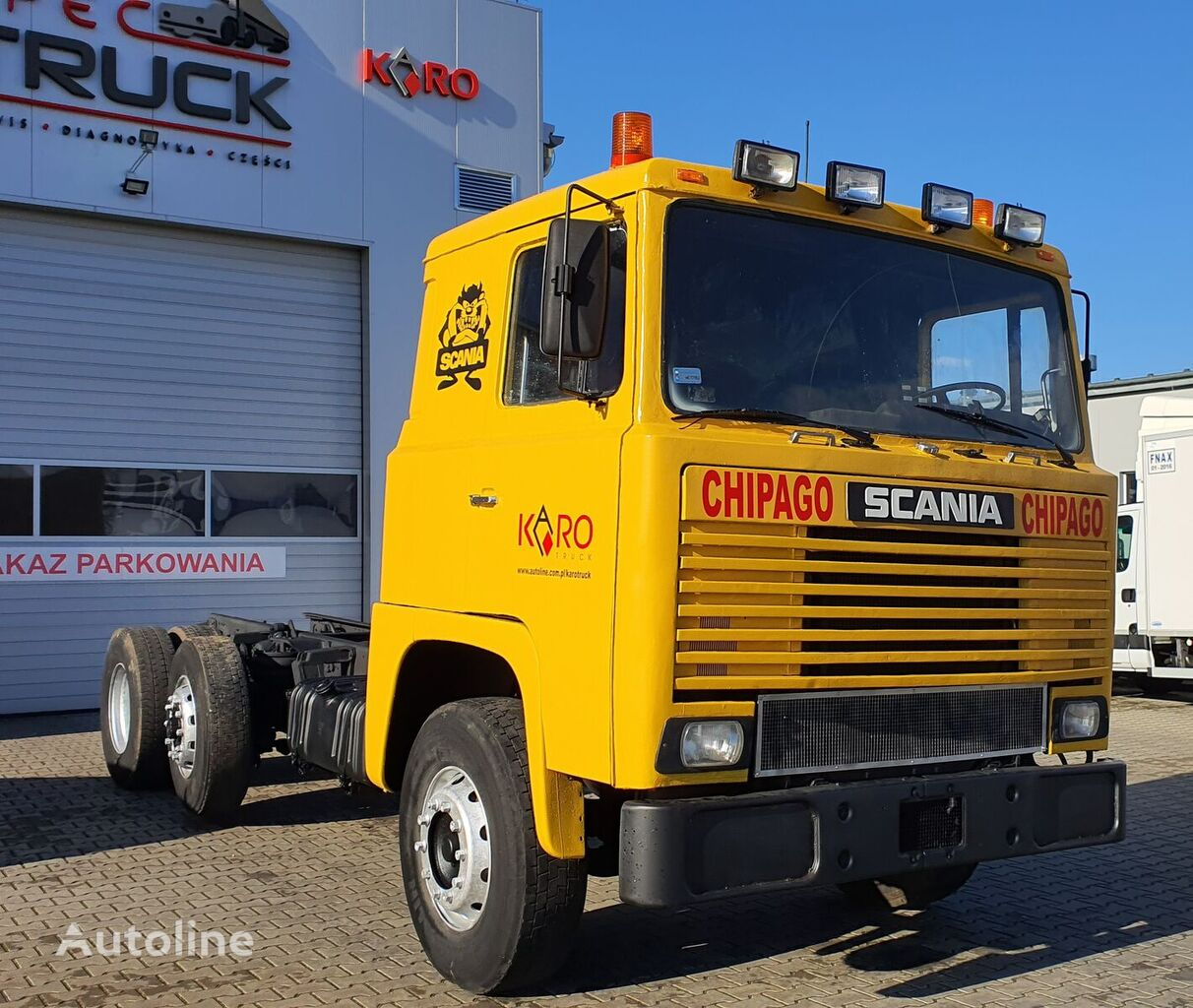 SCANIA LBS 111. 305, full Steel, schassi 5 meters  chassis truck