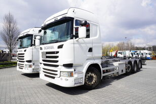 SCANIA R490 , E6 , 8X2/4 , Tridem , chassis 9m , 2x lift axle , retarde chassis truck