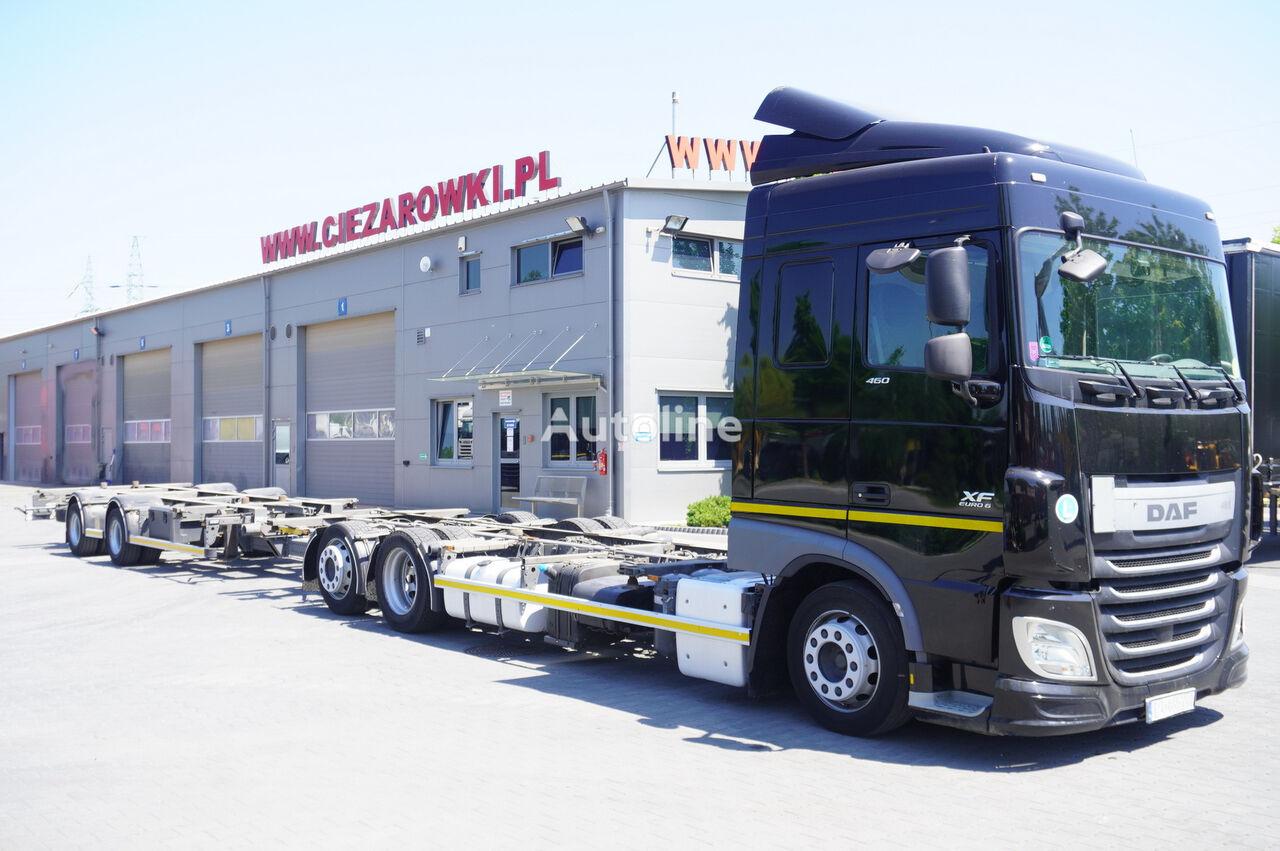 DAF XF 460 SC , E6 , 6X2 , BDF + Wecon 2 axles trailer , BDF SET  chassis truck + chassis trailer