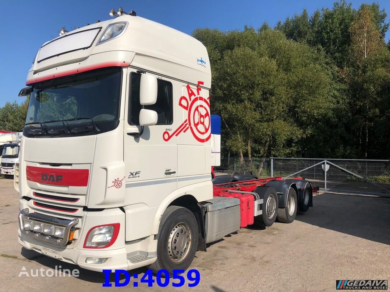 DAF XF106 8x2 EURO6 chassis truck