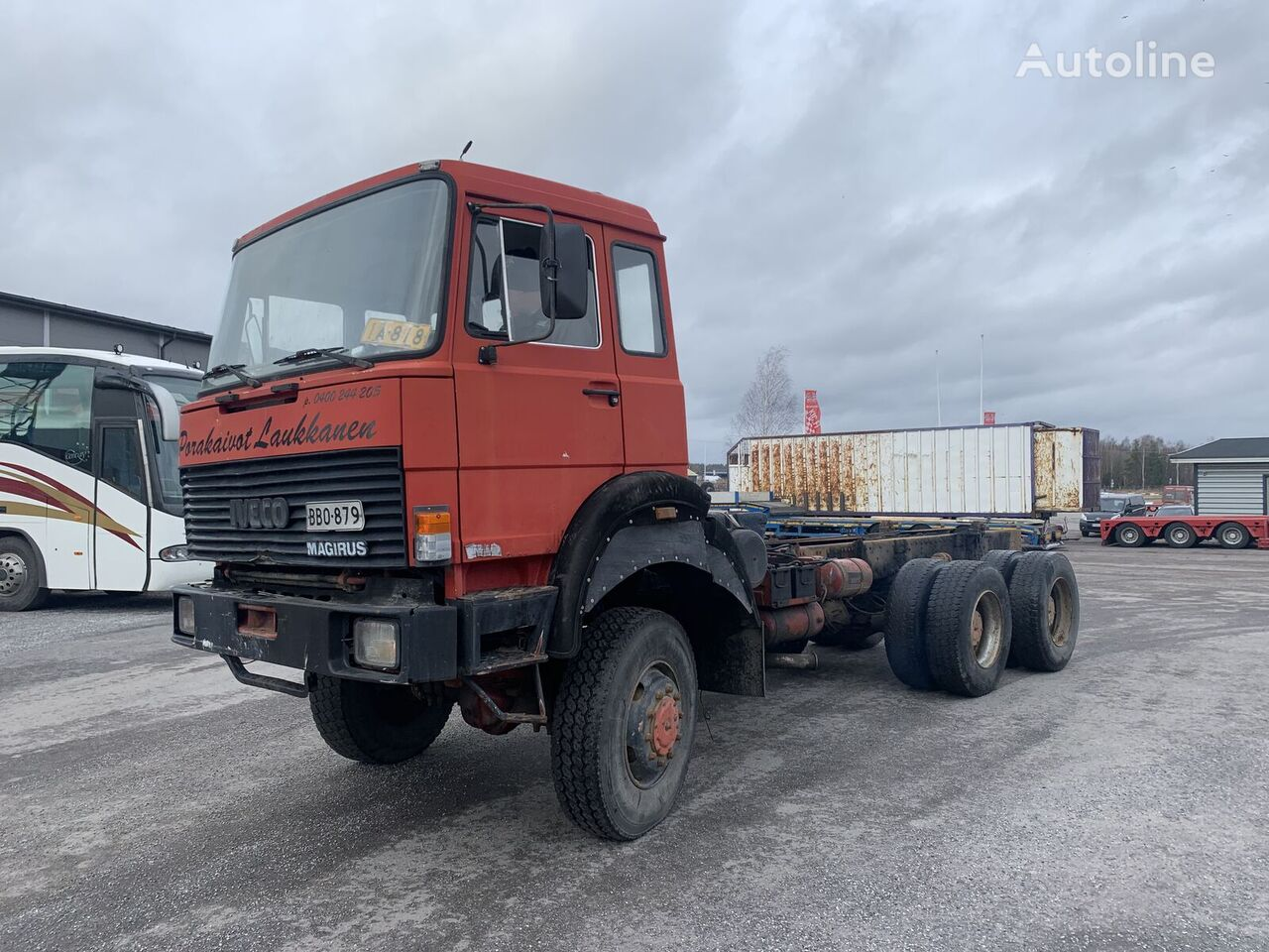 IVECO 260-25 6x6 full steel big axels chassis truck