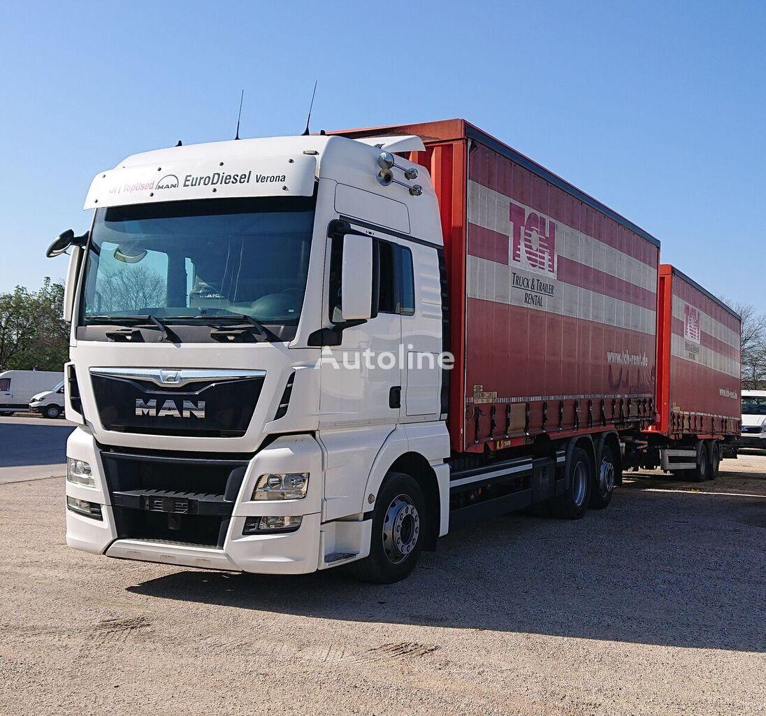 MAN Tgx 26.440 Motrice Porta Casse con Biga + 2 Casse da mt 7.80 chassis truck