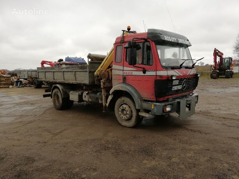 MERCEDES-BENZ 1422 without kipper and crane chassis truck