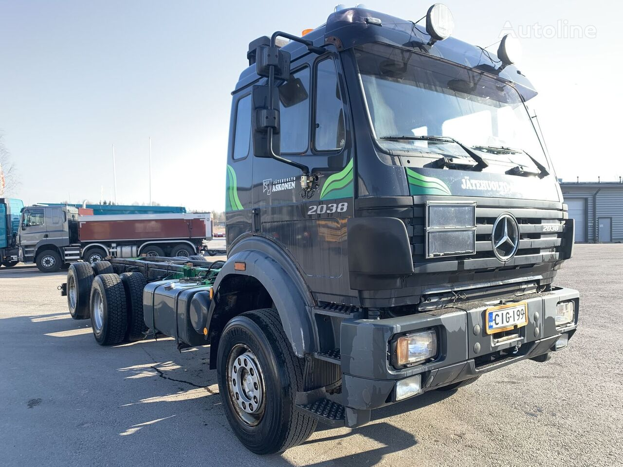 MERCEDES-BENZ 2538 6x2 V8 twin turbo chassis chassis truck