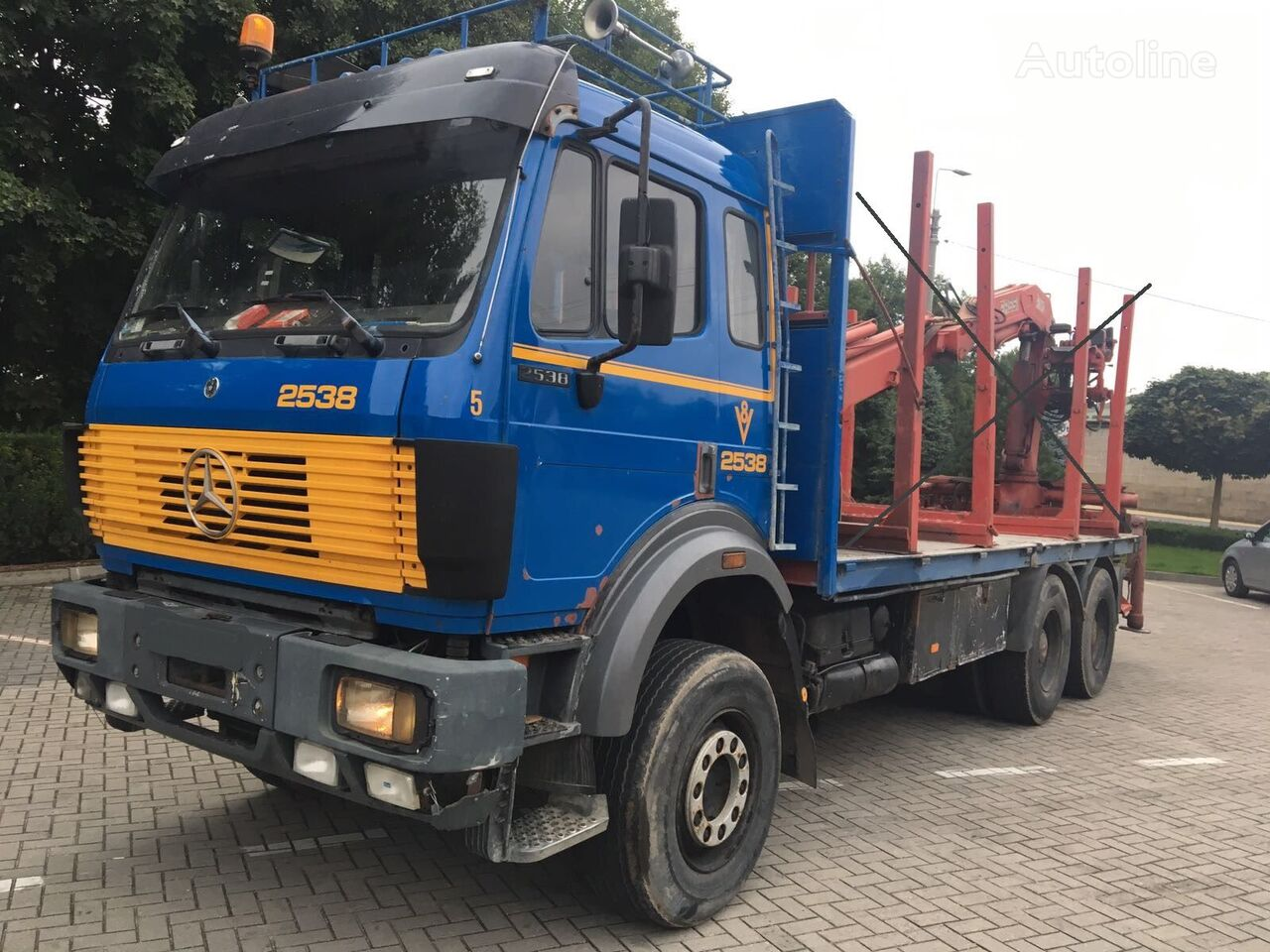 MERCEDES-BENZ 2538  6x4, full spring, without crane chassis truck