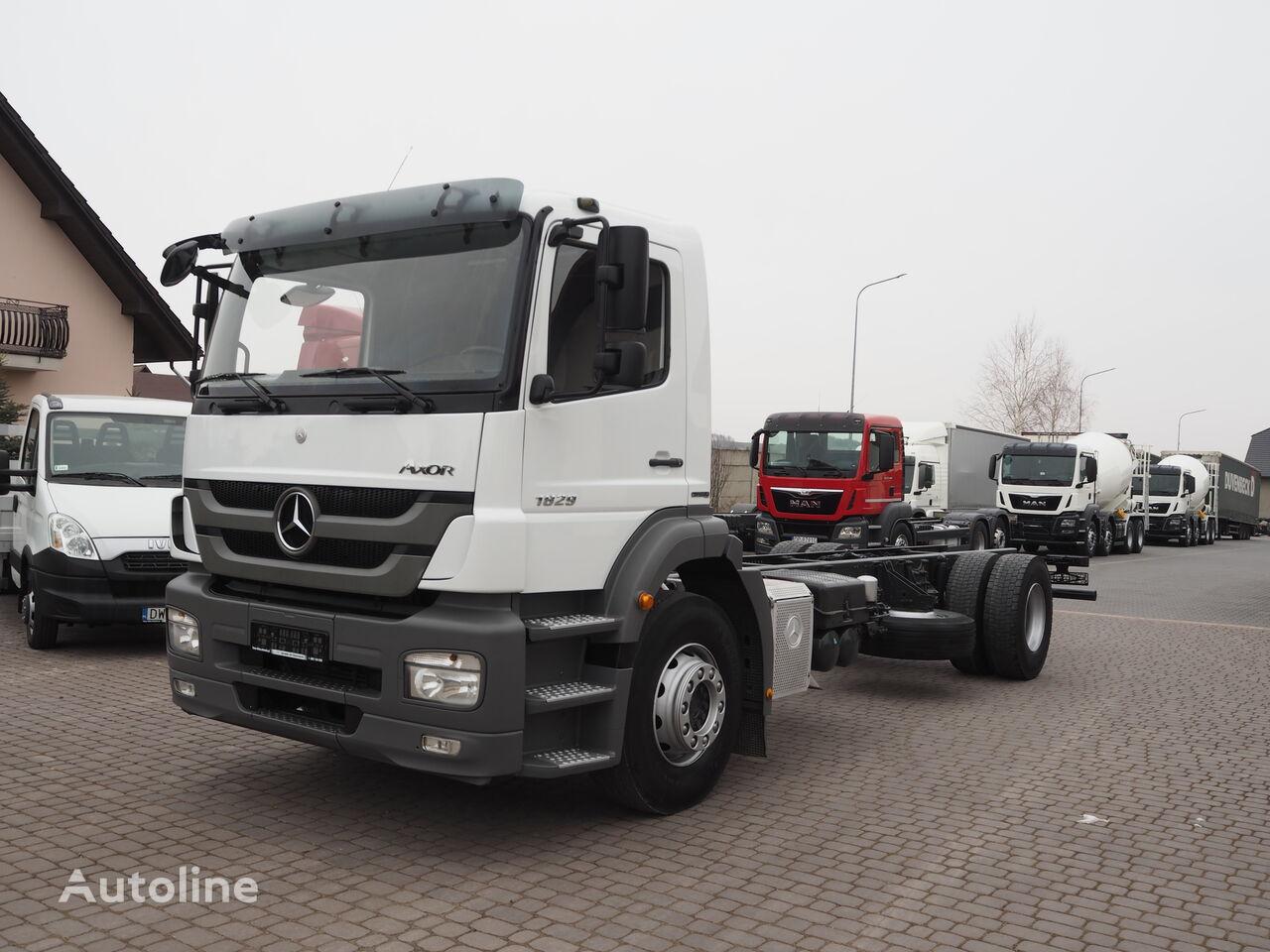 MERCEDES-BENZ AXOR 1829 MANUAL RAMA DO ZABUDOWY chassis truck
