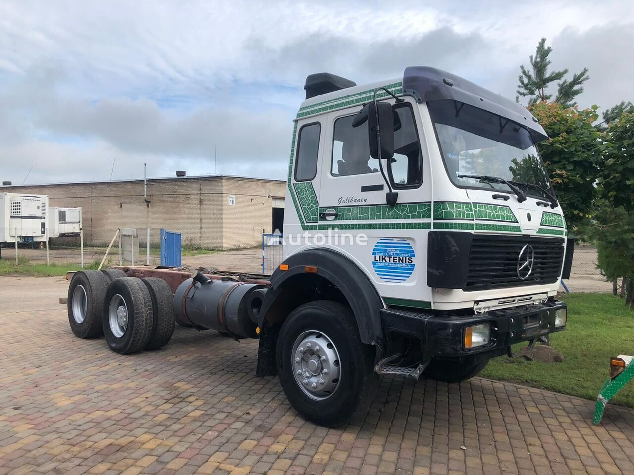 MERCEDES-BENZ Sk 2235 6x2 big axel ful spring low kilometers chassis truck
