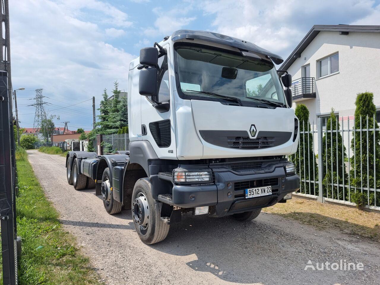 RENAULT KERAX 410 DXI / STEEL SUNSPENSION / HUB REDUCTION chassis truck