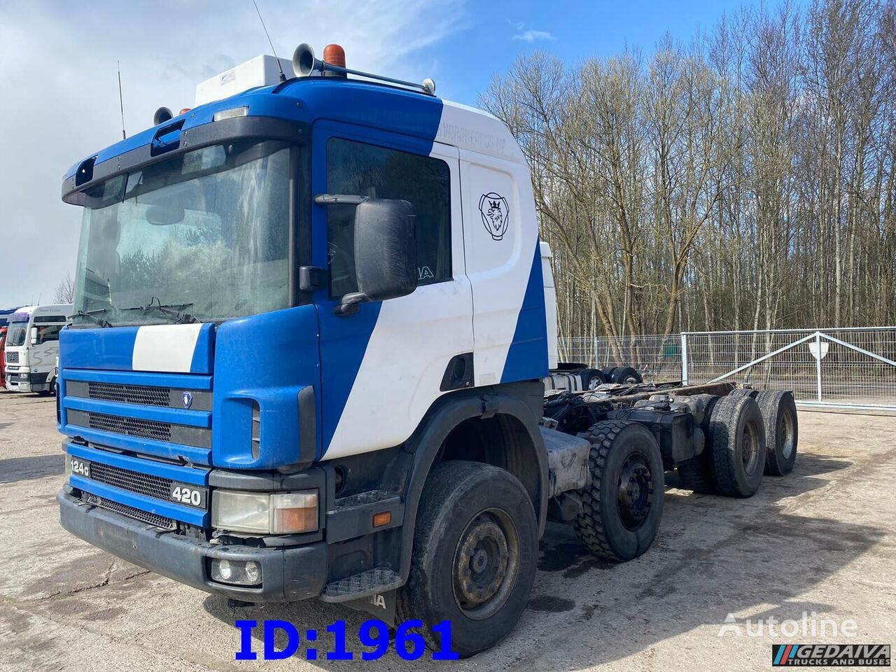 SCANIA 124 8x4 Full steel Big Axle chassis truck