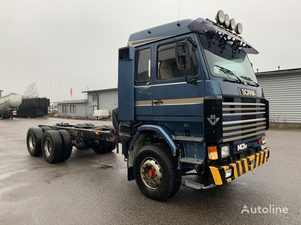 SCANIA R143 6x4 full spring manual clean chassis truck