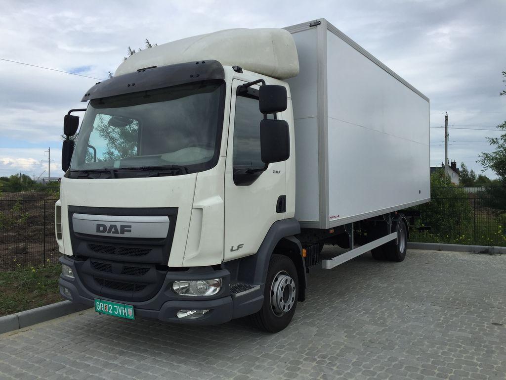 new DAF LF closed box truck