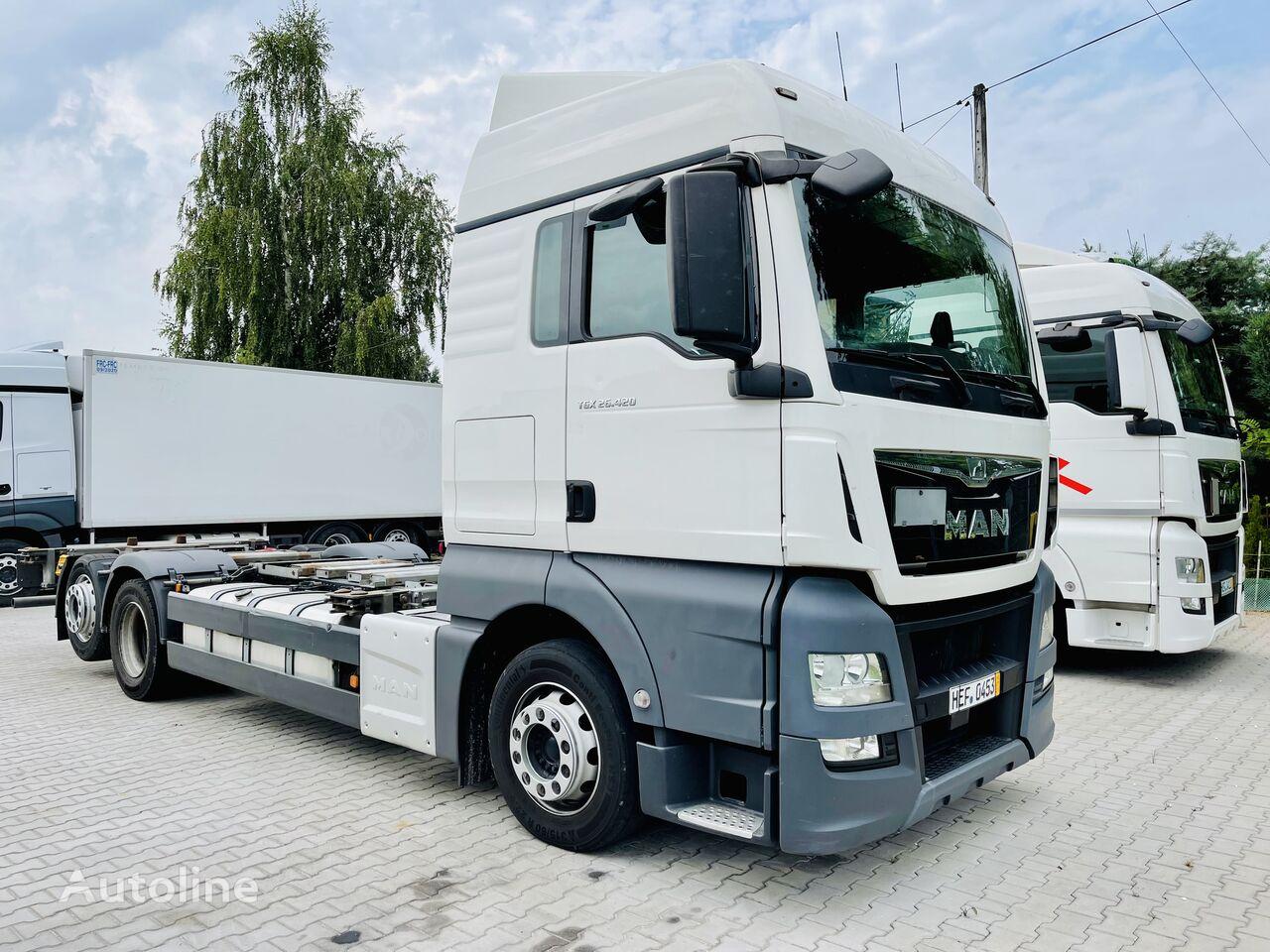 MAN TGX 26.420 E6 6x2 BDF do zabudowy , podwozie container chassis
