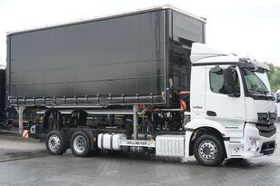 MERCEDES-BENZ Antos 2543 E6 6x2 BDF / Wilhelm Wellmeyer / lifting frame + fift container chassis