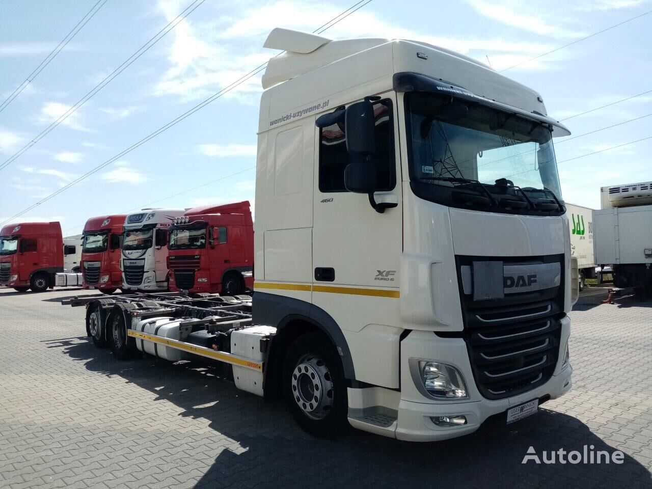 DAF XF 460 FAR VIDEO container chassis