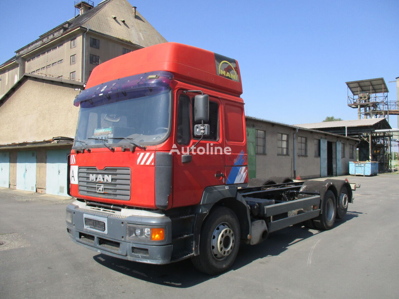 MAN 26.414 FLLT...Retarder...euro 2... container chassis