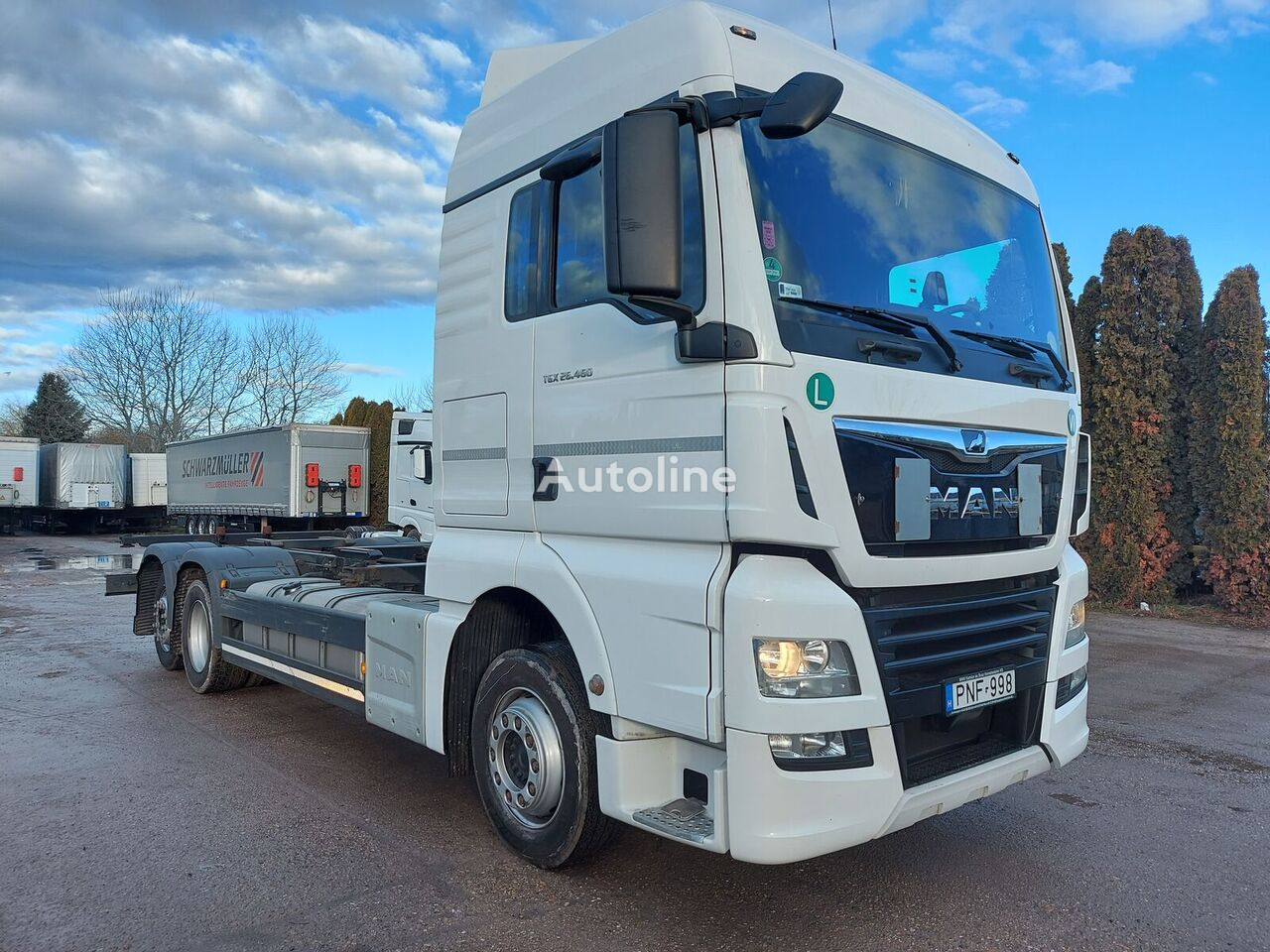 MAN TGX 26.460 BDF container chassis
