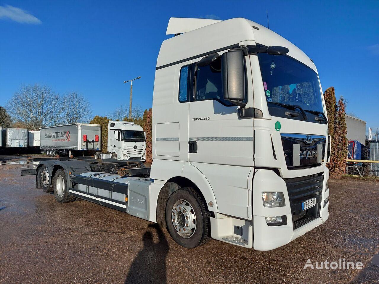 MAN TGX 26.460 EU6 BDF 6x2  TOP container chassis