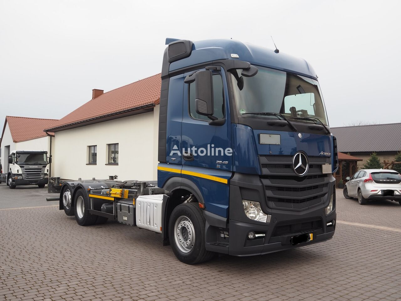 MERCEDES-BENZ ACTROS 2545 MP4 EURO 6 6x2 RAMA BDF POD ZABUDOWE container chassis