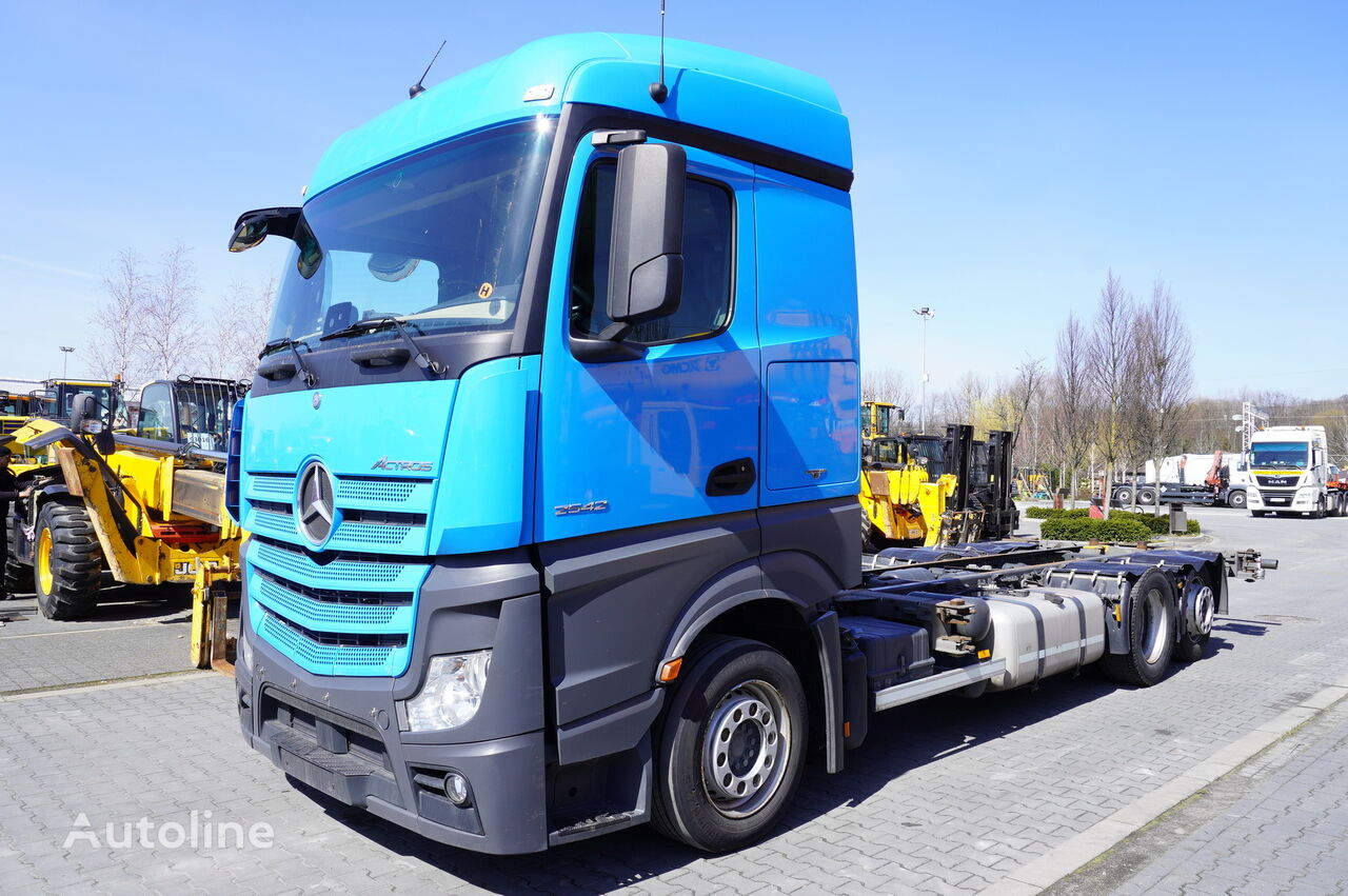 MERCEDES-BENZ Actros 2542 , E6 , 6x2 , MEGA , chassis 7,5m , BDF , retarder ,  container chassis