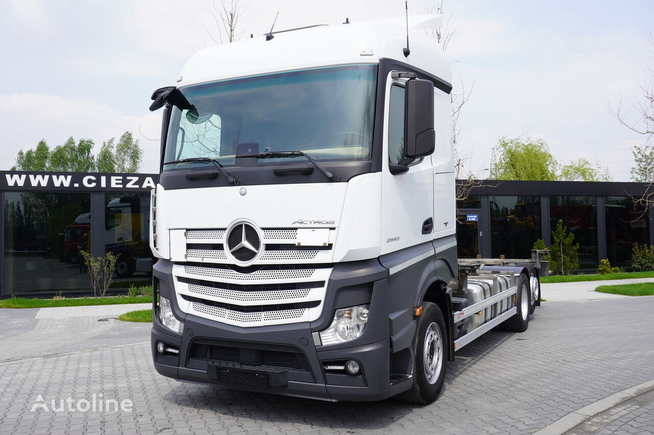 MERCEDES-BENZ Actros 2543 , E6 , 6X2 , BDF , chassis 7,2m , wheelbase 4,9m , r container chassis