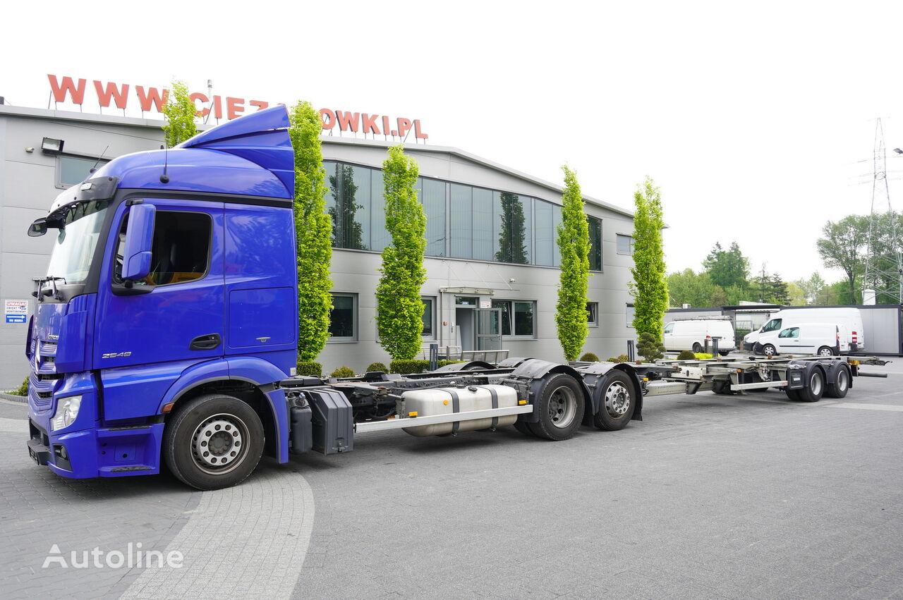 MERCEDES-BENZ Actros 2548 , E6 , MEGA , BDF , chassis 7,7m  container chassis + container chassis trailer
