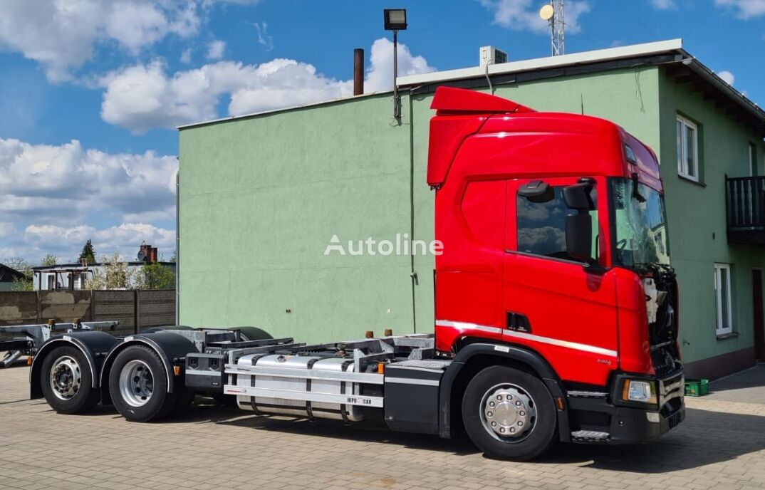 SCANIA R450, 6x2 BDF, Euro 6 , RETARDER, Full Luft container chassis