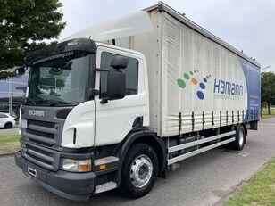 SCANIA P230 P 230 + EURO 4 + LIFT + 8.20 METER BOX curtainsider truck