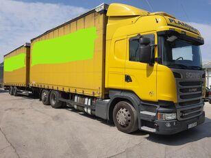 SCANIA R450 curtainsider truck + curtain side trailer