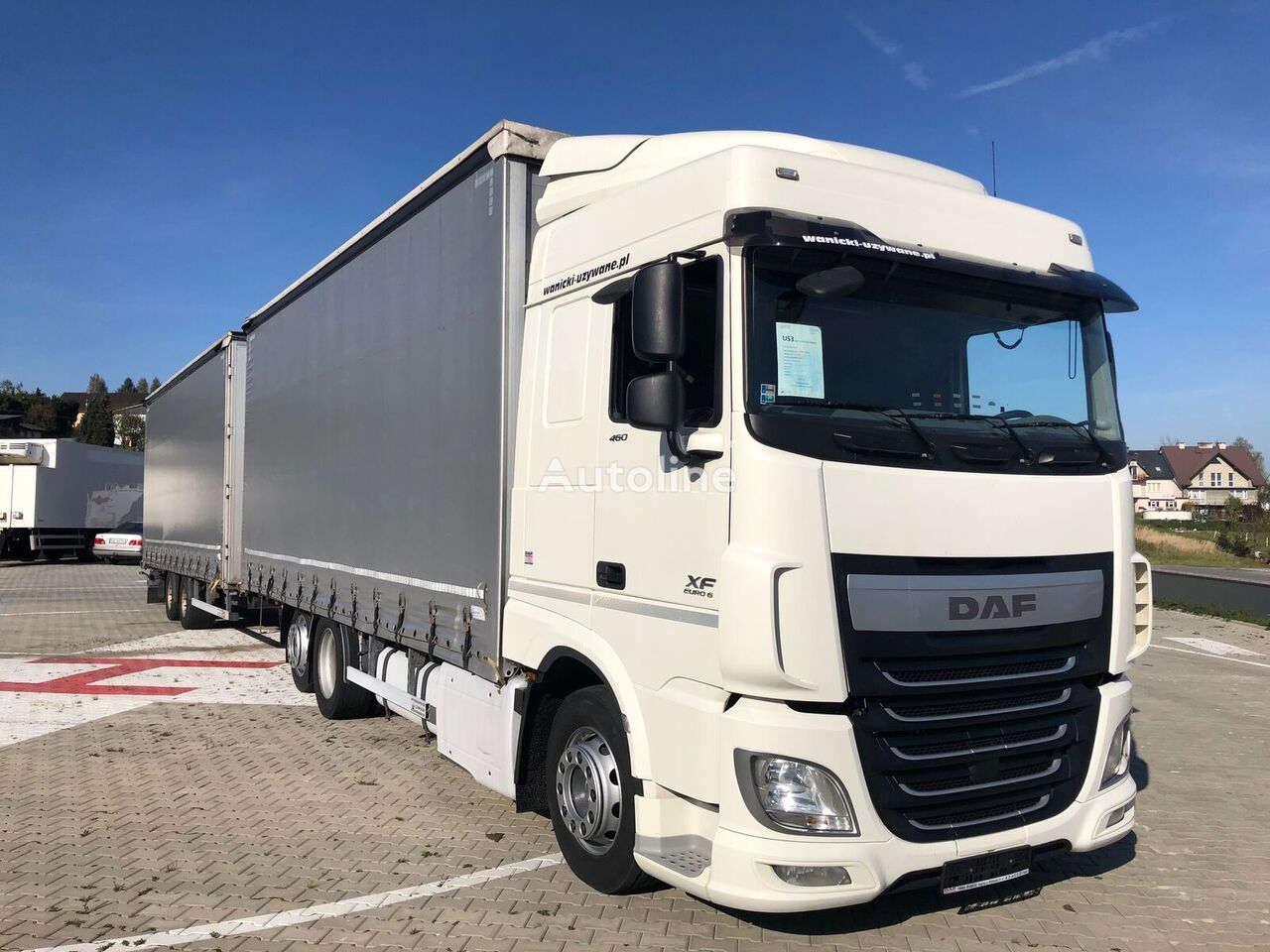 DAF XF 460 FAR curtainsider truck + curtain side trailer
