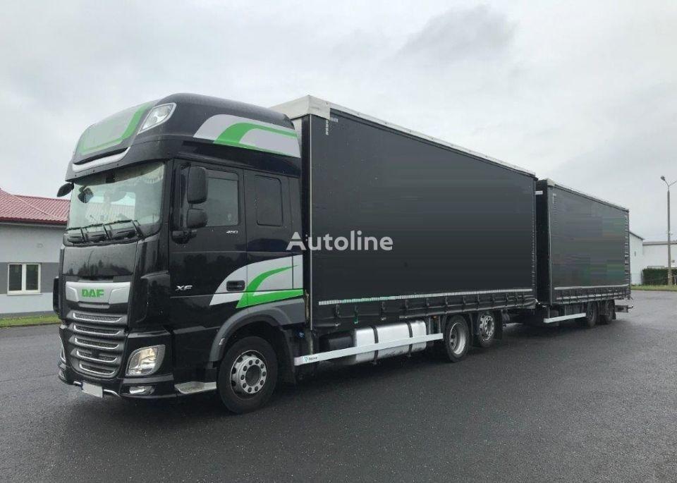 DAF XF 480 curtainsider truck + curtain side trailer