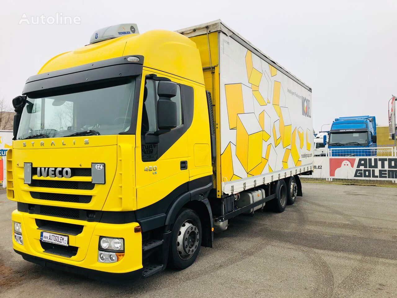 IVECO STRALIS AS 260S42 flatbed curtainsider truck
