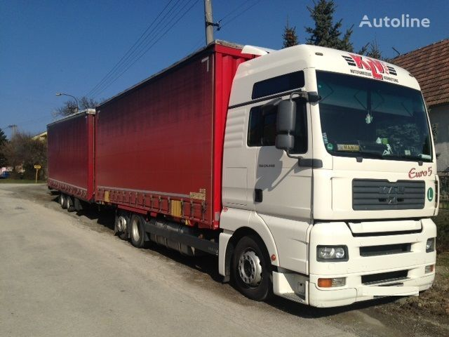 MAN 26.440 jumbo curtainsider truck + curtain side trailer