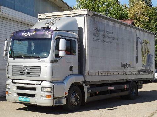 MAN TGA 18.320 curtainsider truck