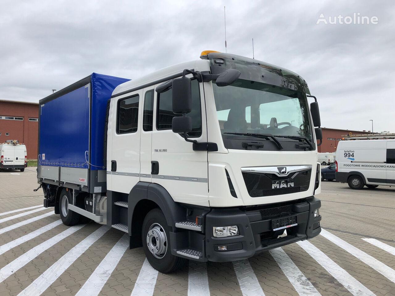 MAN TGL 12.190 , E6 , 0 km , 2020 , NEW , DOKKA cab , 3 UNITS  curtainsider truck