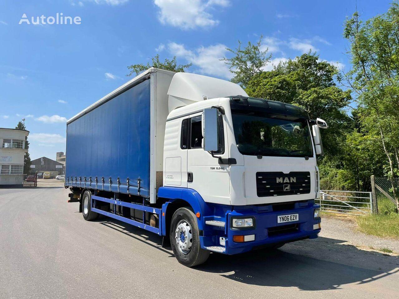 MAN TGM 18.240 curtainsider truck