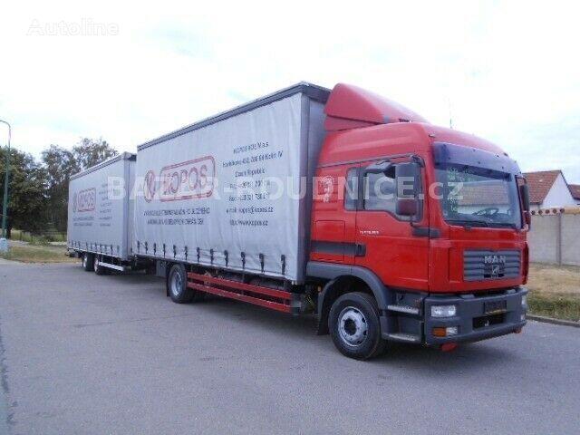 MAN TGM+SVAN 13 curtainsider truck + curtain side trailer