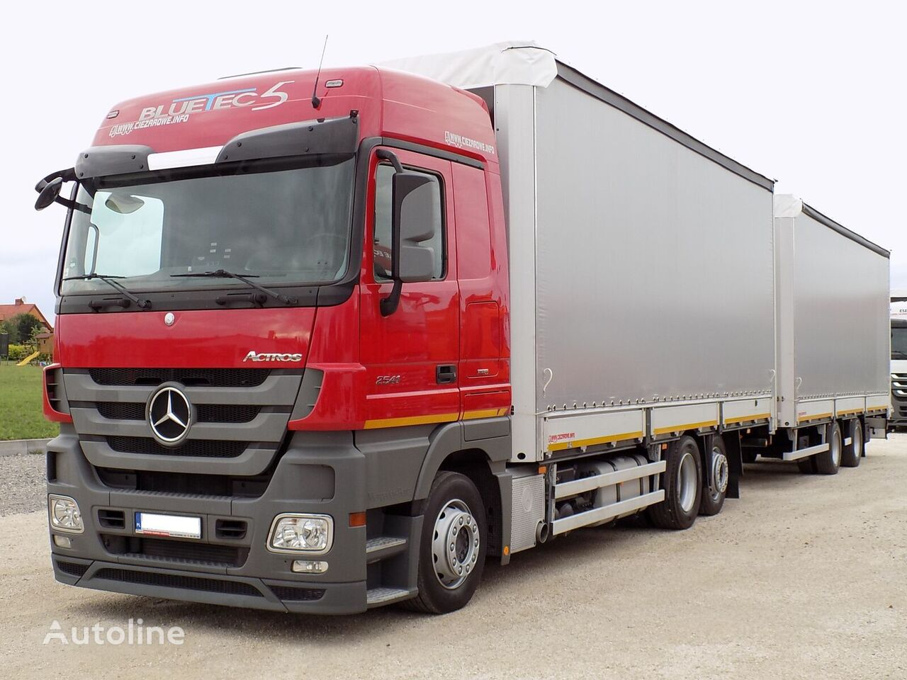 MERCEDES-BENZ ACTROS 2541 curtainsider truck + curtain side trailer
