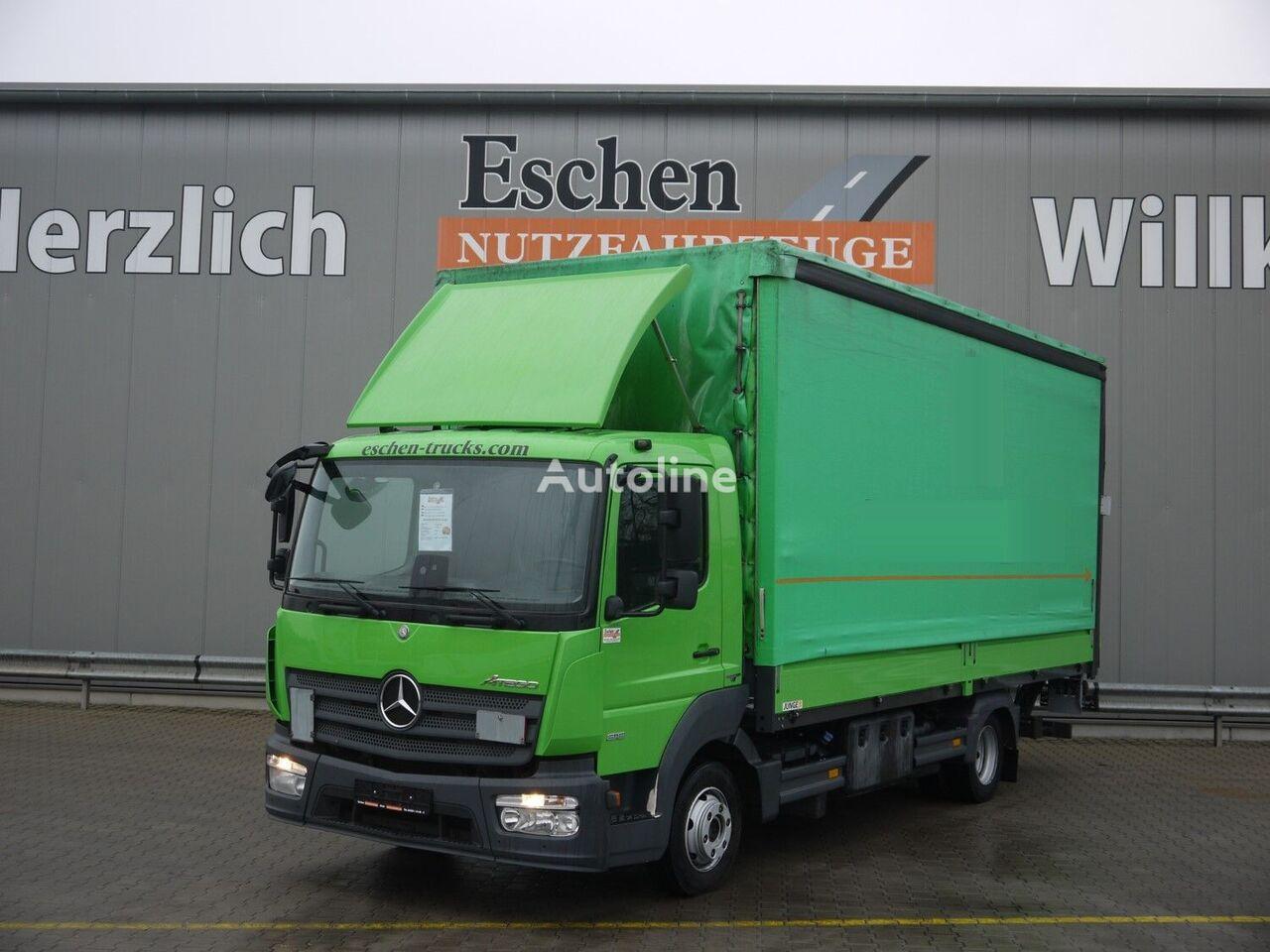 MERCEDES-BENZ Atego 818L, 4x2, LBW, BL/Lu curtainsider truck