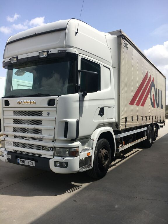 SCANIA 420. TAUTLINER 20 PALETS  curtainsider truck