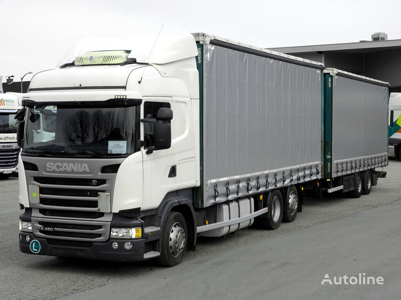 SCANIA R 450 LB6x2MLB Jumbo + Wecon Trailer curtainsider truck + curtain side trailer