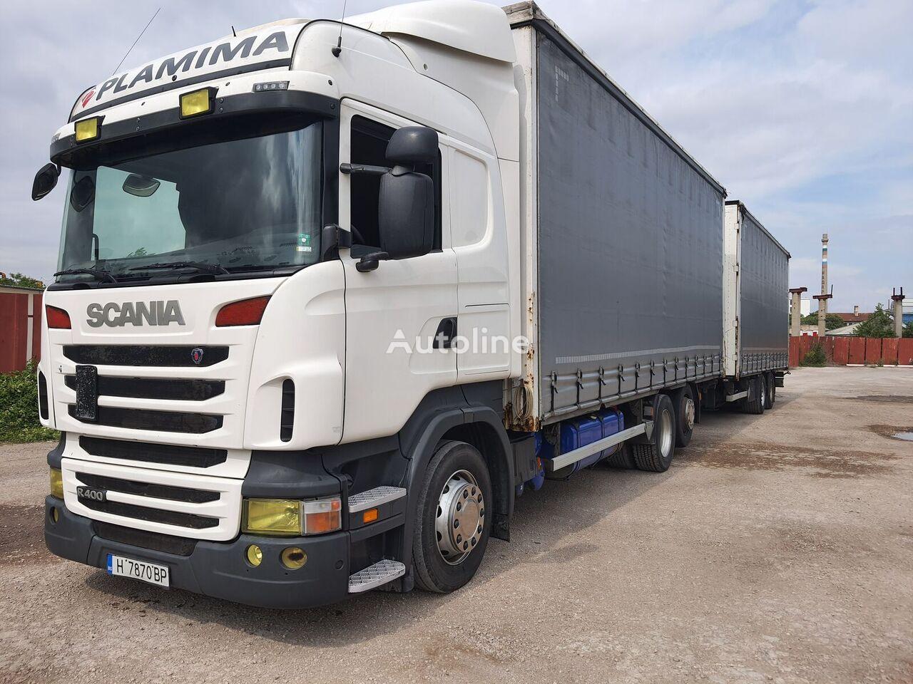 SCANIA R400 curtainsider truck + curtain side trailer