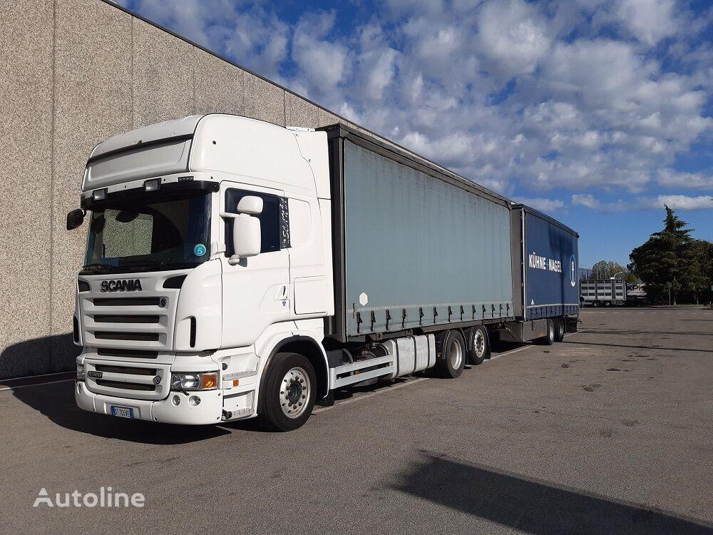 SCANIA R500 curtainsider truck + curtain side trailer