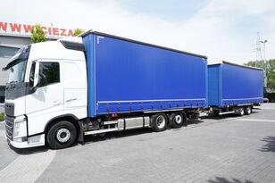 VOLVO FH460 GLOB XL , E6 , MEGA , 120m3 , JUMBO 38 EPAL  curtainsider truck + curtain side trailer