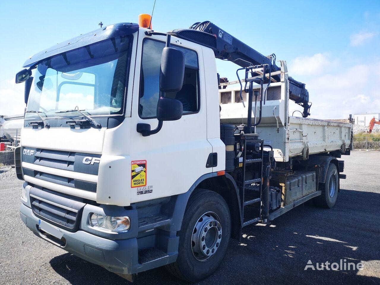 DAF CF 75.310 Bi-Kipper + KRAN HIAB 166 b-3 EURO 5 dump truck