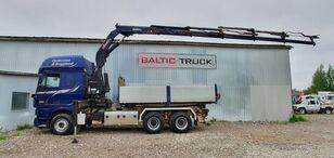 DAF XF105.510, 6x4, CRANE + 3-WAY TIPPER  dump truck