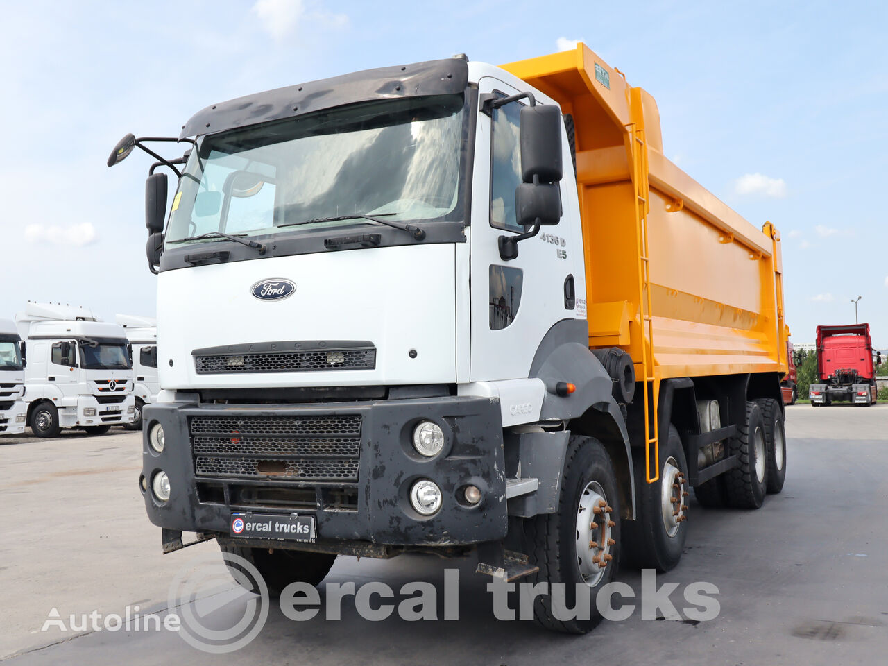 FORD 2015  CARGO 4136  AC 8X4  E5 HARDOX TIPPER dump truck