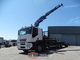 IVECO STRALIS 350  GRUA PM 37 dump truck