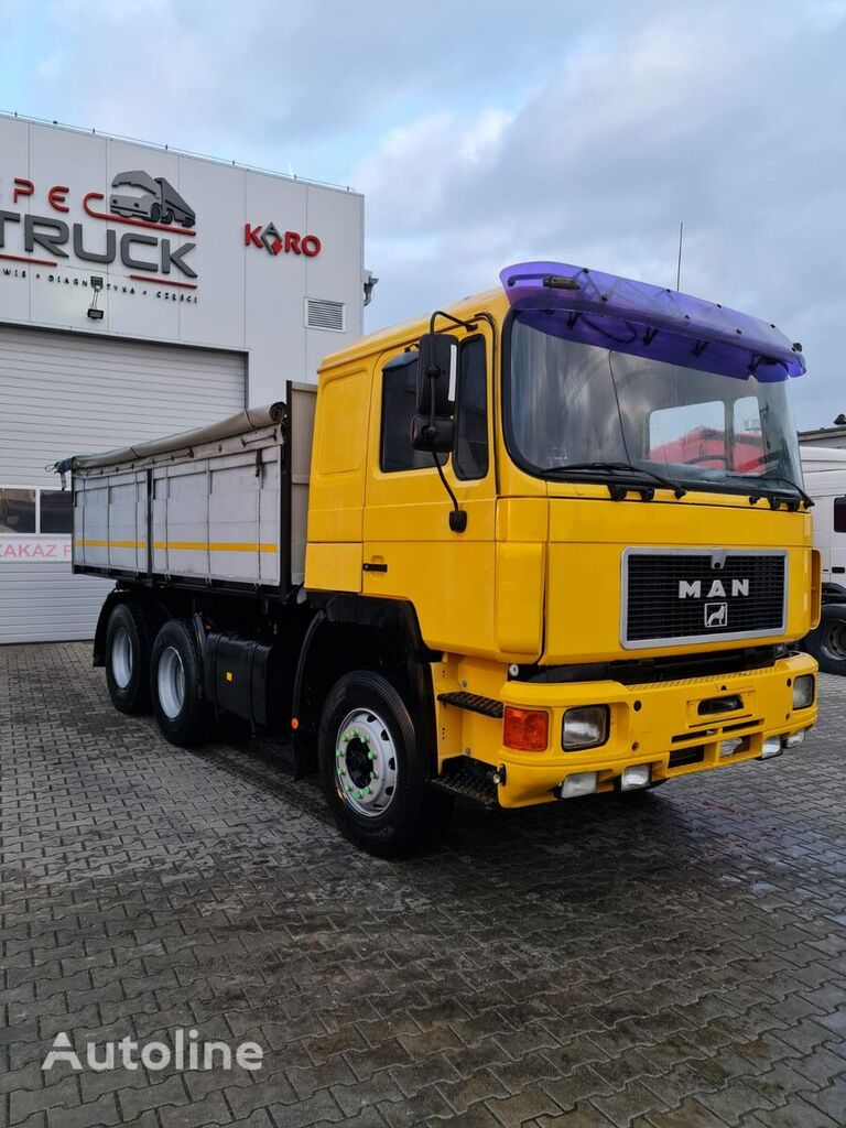 MAN 26.372, Steel /Air, 6x4, Manual Pump, 6 CYLINDERS  dump truck